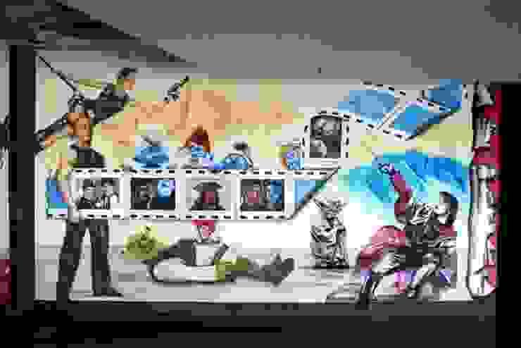 Wandmalerei Kino Moderne Gastronomie von Studio Witti - Atelier für Gestaltung Modern