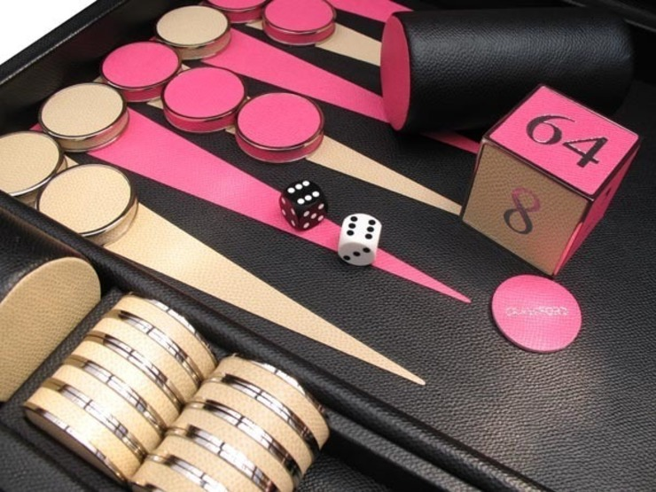 Bespoke Contemporary class Backgammon de Geoffrey Parker Games Ltd Moderno