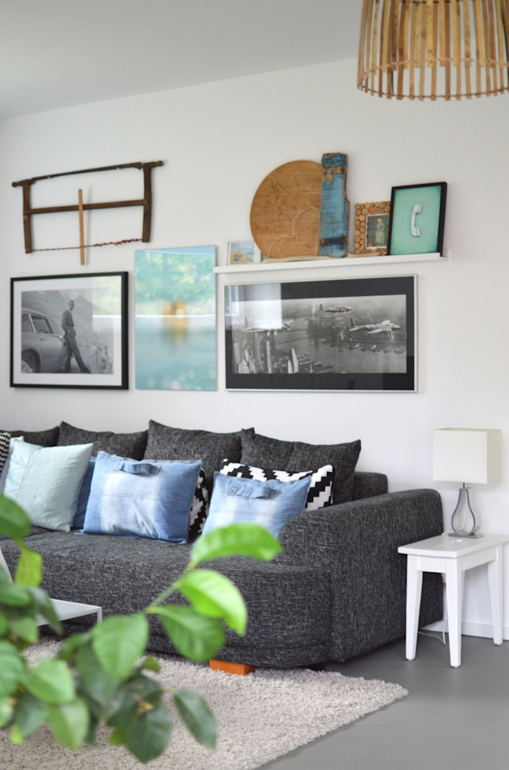 Industrial style living room by Kristina Steinmetz Design Industrial