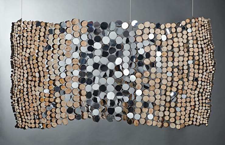 Curved mirror tapestry: rustic  by Lee Borthwick, Rustic