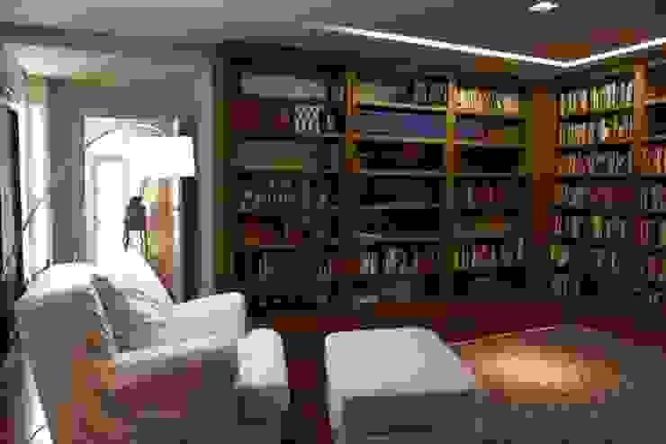 Biblioteca Escritórios modernos por Ornella Lenci Arquitetura Moderno