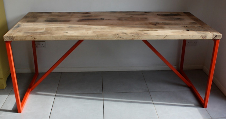 Salvation Furniture's Kanteen Table in French Oak: industrial  by Salvation Furniture, Industrial