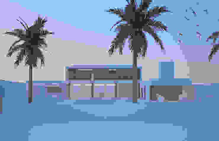 House_ZLO Balcones y terrazas minimalistas de revolver architecture Minimalista