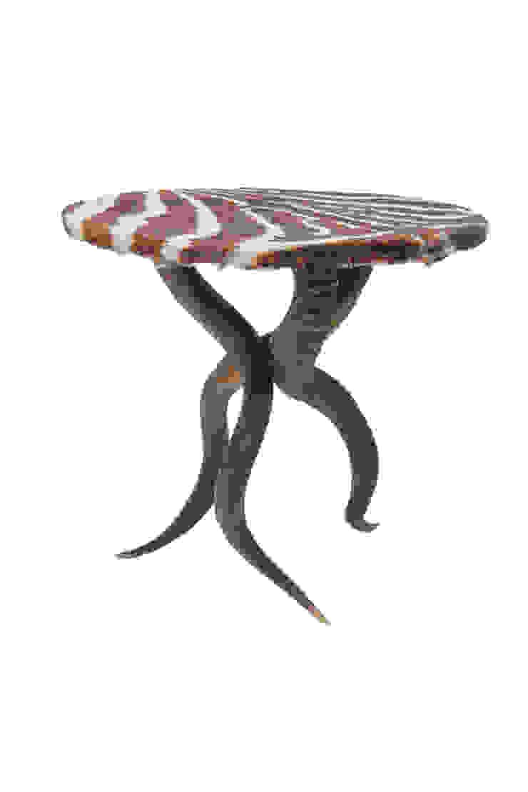 Zebra/Kudu Horn Table: modern  by From Africa, Modern