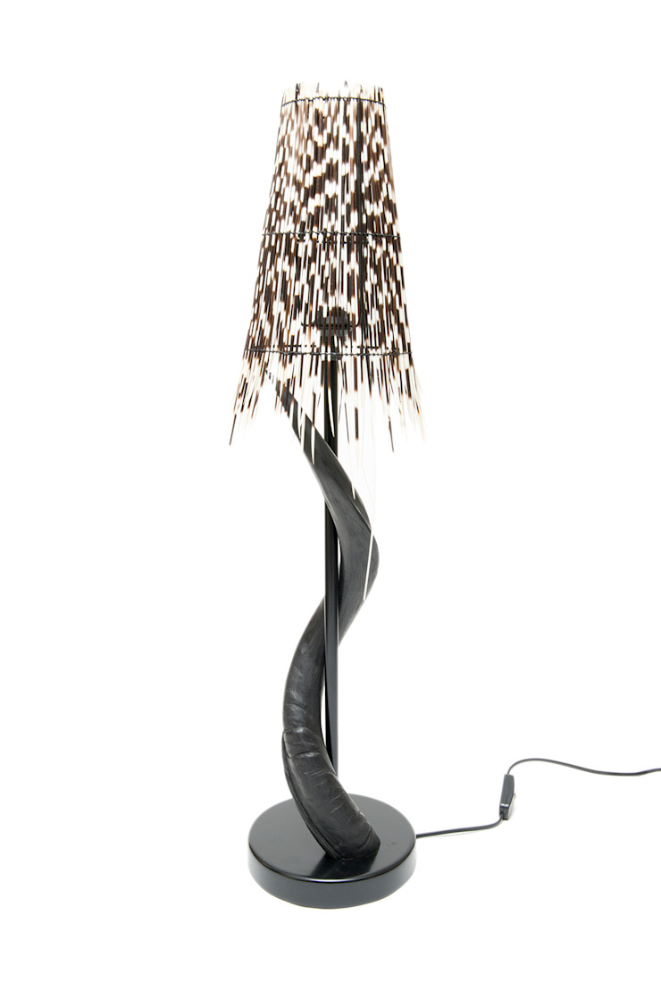 Porcupine Quill/Impala Horn Lamp: modern  by From Africa, Modern