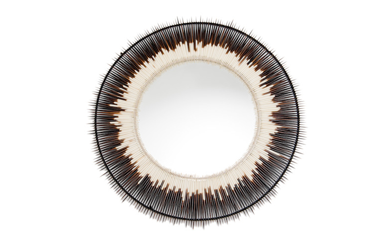 Porcupine Quill Mirror: modern  by From Africa, Modern