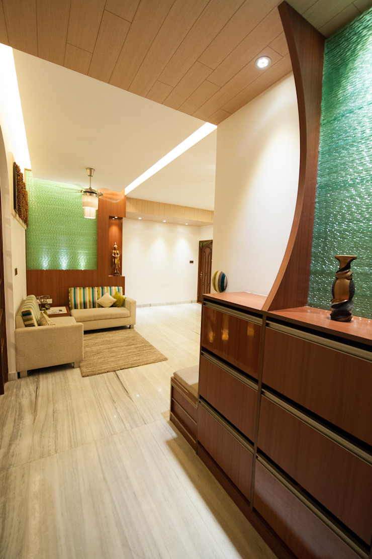 Entrance Foyer Modern living room by Vishwanath And Associates Modern