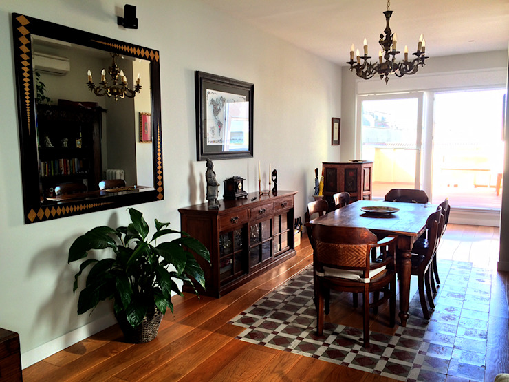 Salón - Comedor Casas de estilo ecléctico de Calizza Interiorismo Ecléctico