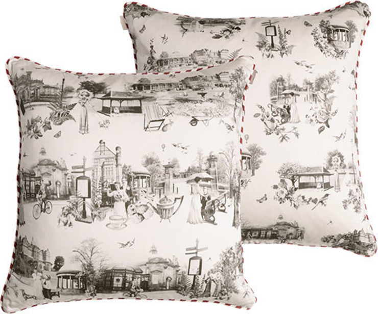 Harrogate Panoramic cushion: eclectic  by Emily Humphrey Design, Eclectic