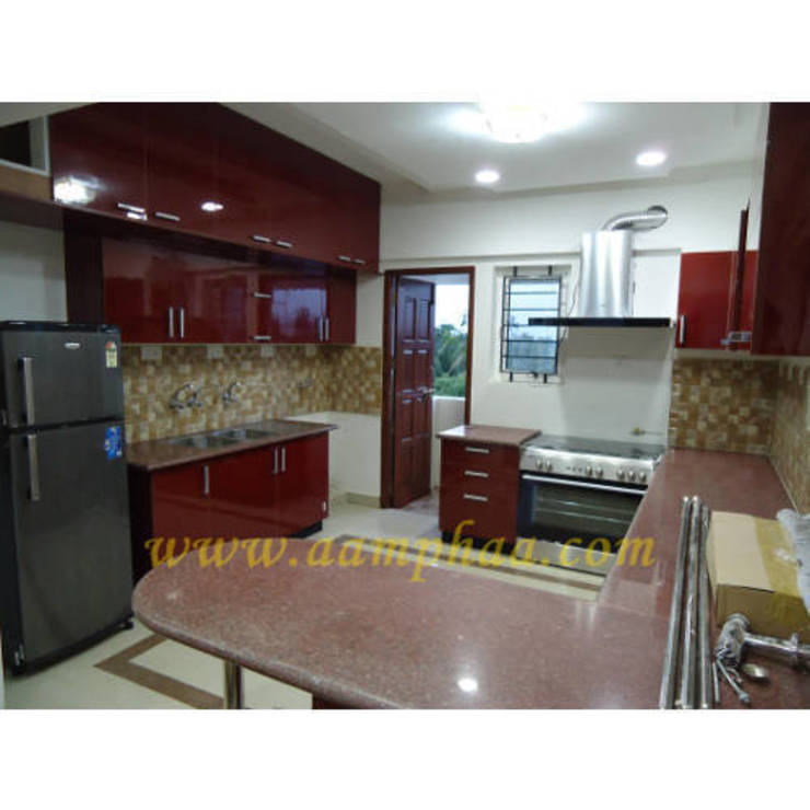 Modular Kitchen: asian  by aamphaaprojects,Asian