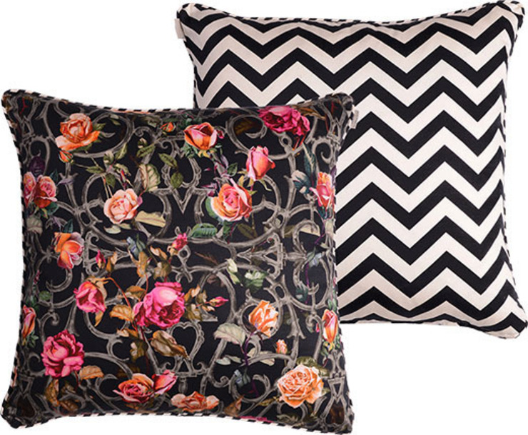Rose Trellis Cushion: eclectic  by Emily Humphrey Design, Eclectic