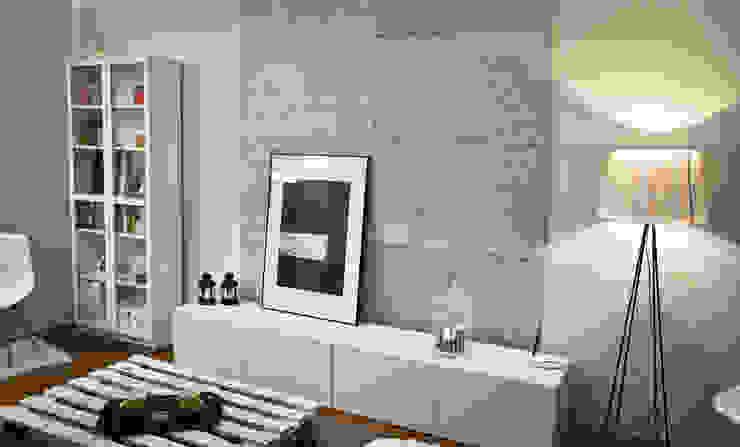 Стены и пол в . Автор – Loft Design System Deutschland - Wandpaneele aus Bayern