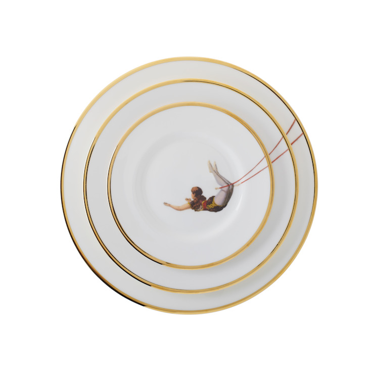 Trapeze Girl Bone China Plates by Melody Rose
