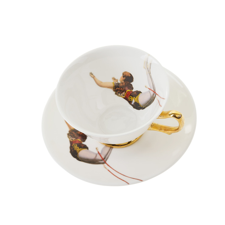 Trapeze Girl Teacup and Saucer by Melody Rose