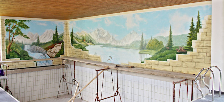 Piscina in stile mediterraneo di Studio Witti - Atelier für Gestaltung Mediterraneo