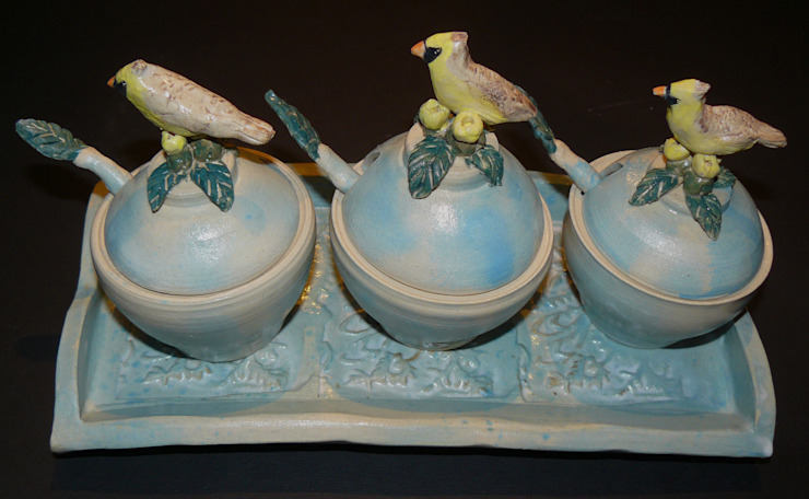 Ceramic Condiment Set: eclectic  by Boyne-Whitelegg Pottery, Eclectic