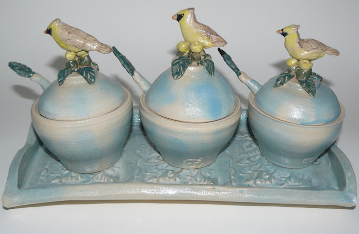 Condiment Set: eclectic  by Boyne-Whitelegg Pottery, Eclectic