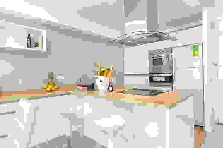 Cocina Salones de estilo moderno de Espacios y Luz Fotografía Moderno