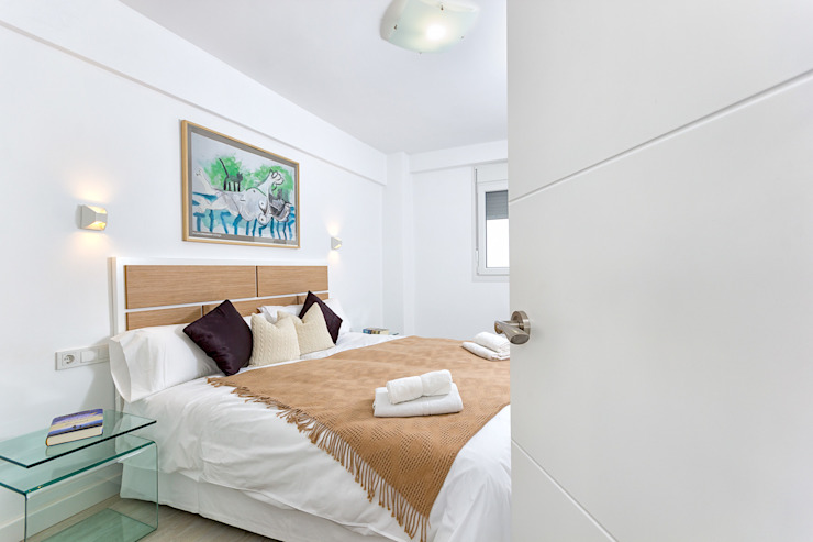 Dormitorio principal Salones modernos de Espacios y Luz Fotografía Moderno