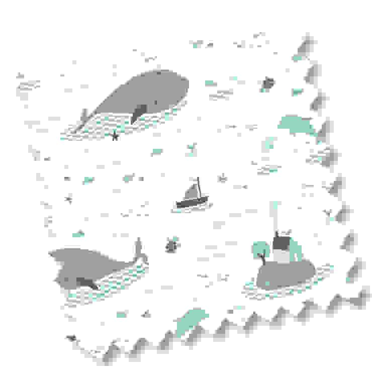 Save the whales von Véronique Petit Designer Textile Skandinavisch
