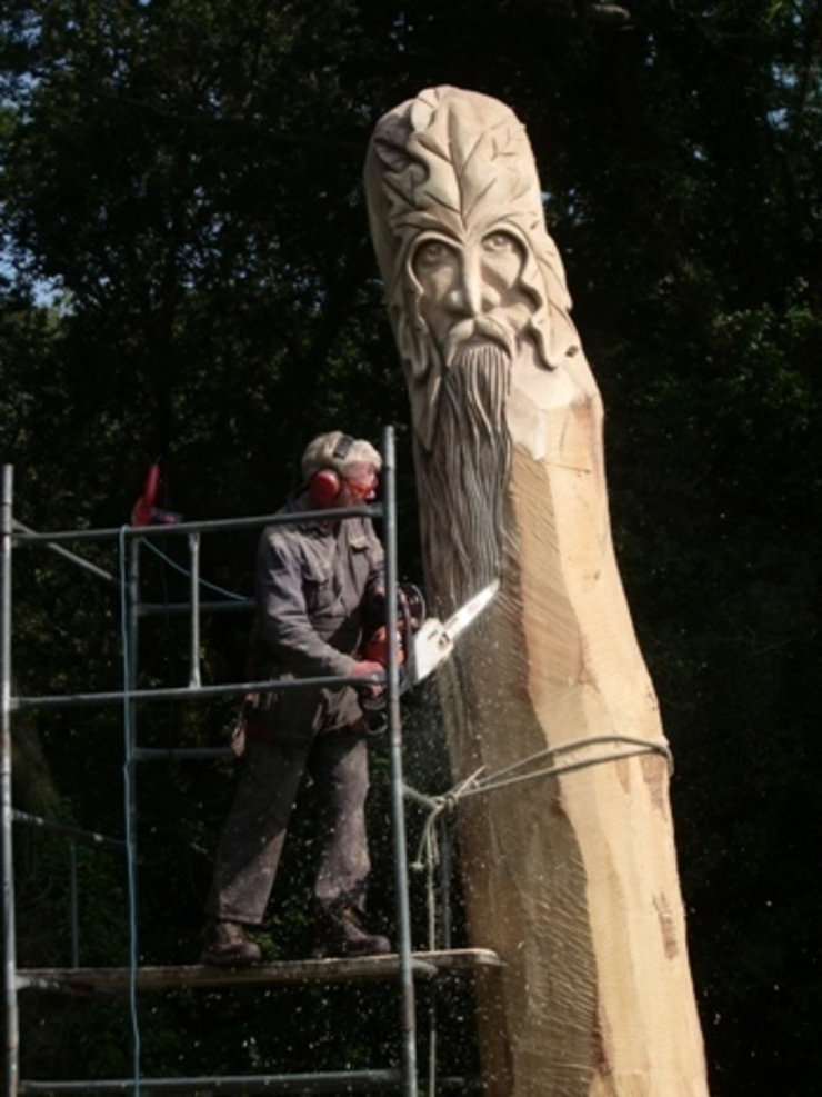 Queen Eleanors Green Man: country  by The Carved Tree, Country