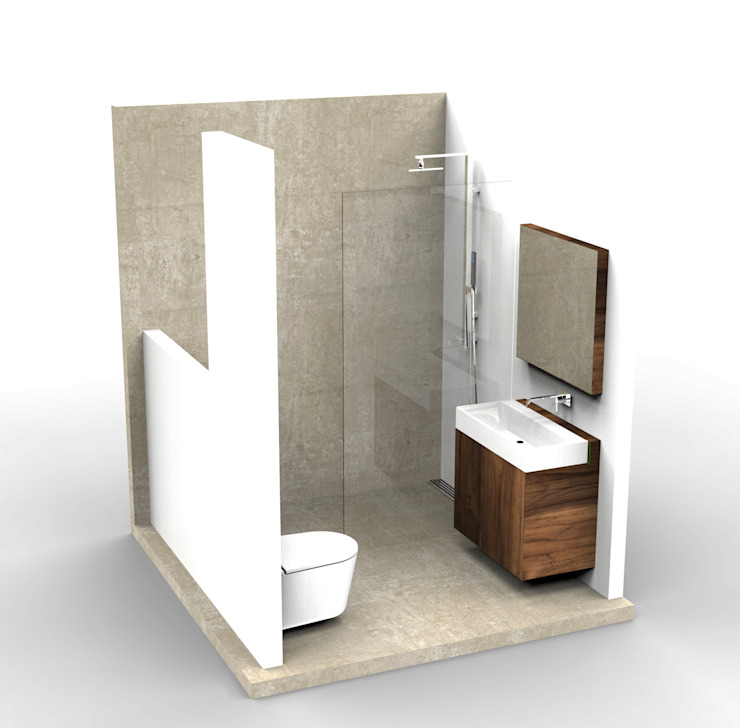 Small Bathroom Design Minimalistische badkamers van Alexander Claessen Minimalistisch