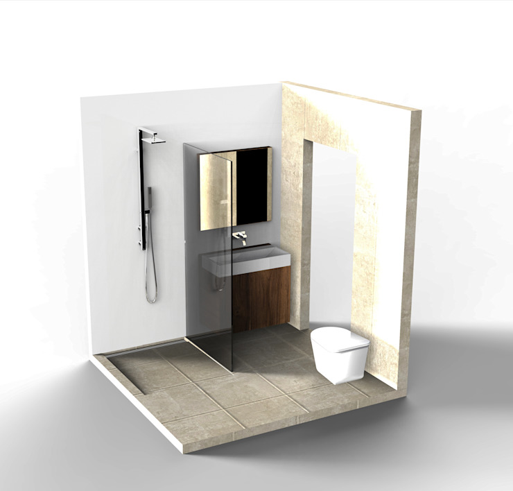 Small Bathroom Industriële badkamers van Alexander Claessen Industrieel