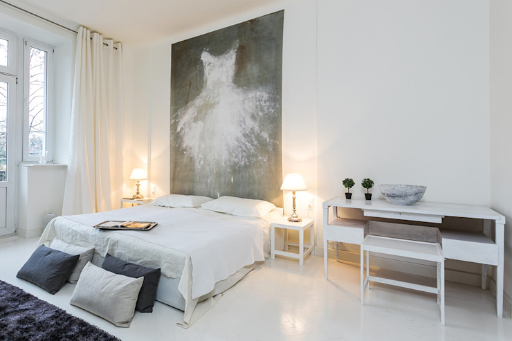 Dormitorios de estilo moderno de Michał Młynarczyk Fotograf Wnętrz Moderno