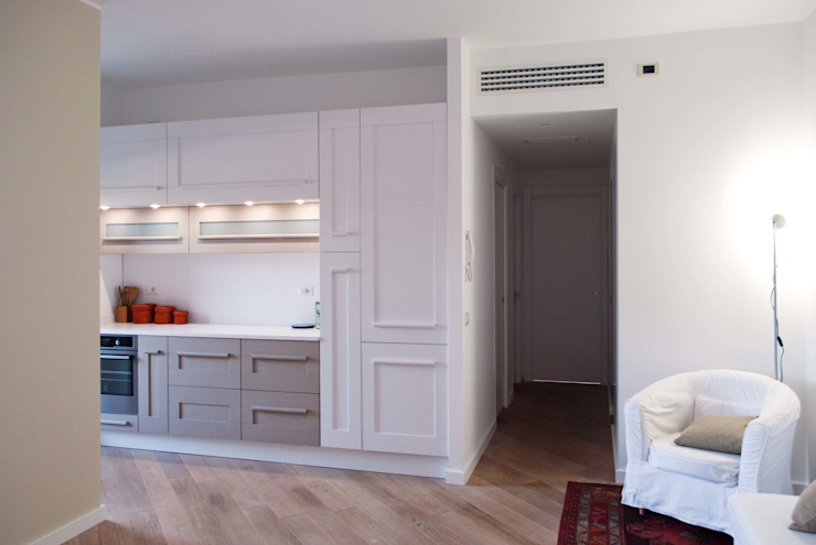 PROGETTO RESIDENZIALE   ROMA   EUR TORRINO - 2014 Case in stile minimalista di ar architetto roma Minimalista