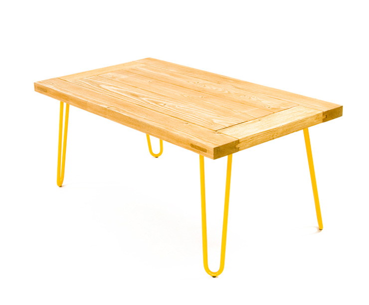 Table with a real piece of wood od Gie El Home Nowoczesny