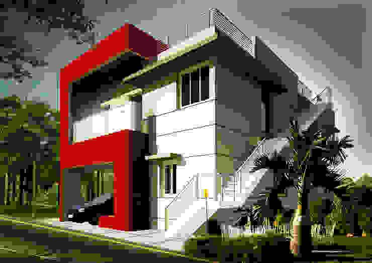 Exteriors: modern  by MRN Associates,Modern