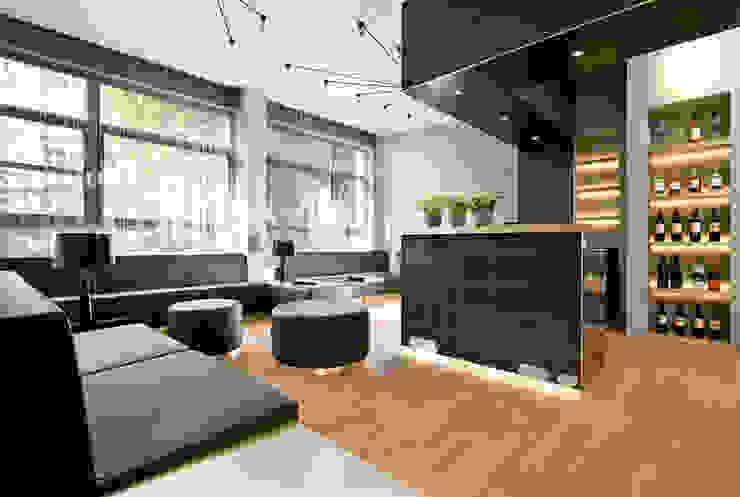 Cityloft Berlin Modern Living Room by DITTEL ARCHITEKTEN GMBH Modern