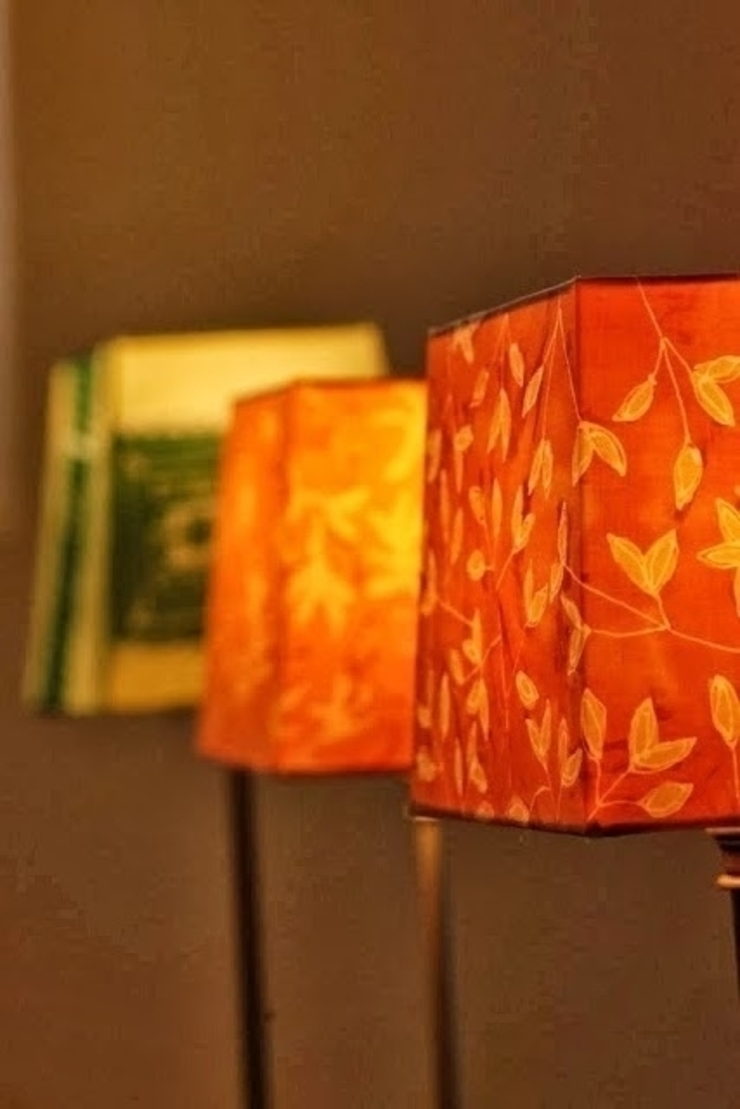 foliage table light ATELIER IRENE SEMELKA SalonesIluminación Textil Amarillo