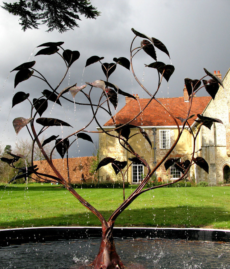 Catalpa Tree Fountain: modern  by Humphrey Bowden Fountain Designer and Maker, Modern