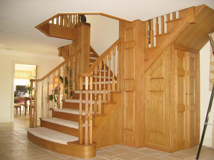 Projects, Extensions, Lofts Rustic style corridor, hallway & stairs by Xspace Rustic