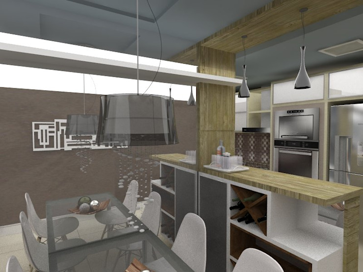 Jantar por Cristiano Carvalho Arquitetura e Design