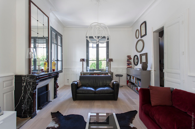 Maison de village Salon moderne par ATELIER WM Moderne