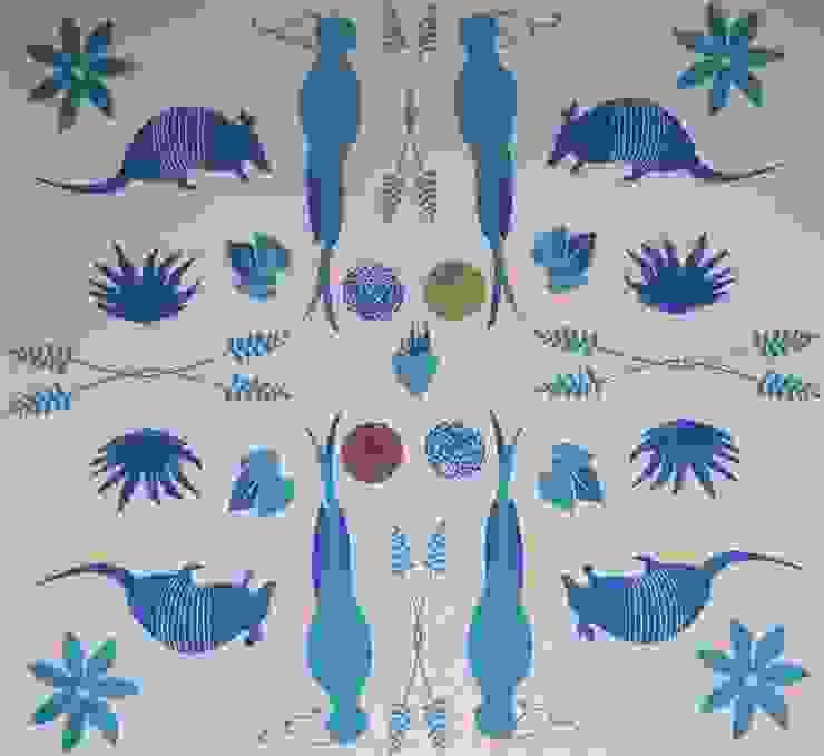 Tenangos:  de estilo colonial por Monalola Prints, Colonial
