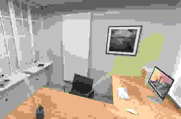 Bureau met kastwand Moderne kantoor- & winkelruimten van AD MORE design Modern MDF