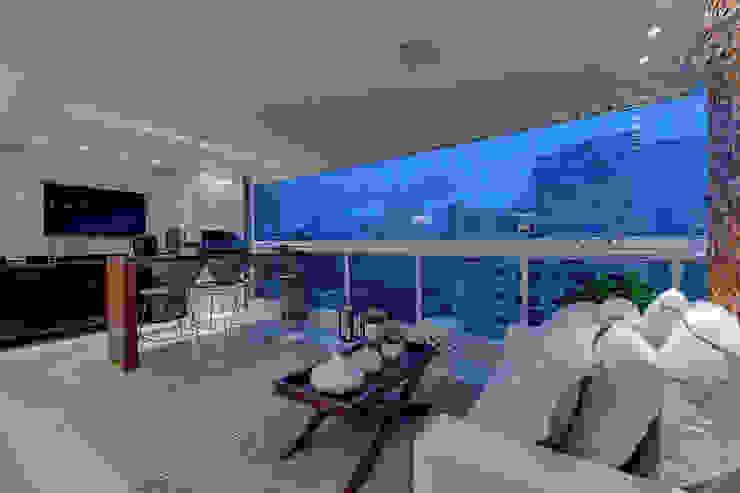 Projeto Varandas, alpendres e terraços modernos por carla felippi arquiteta Moderno