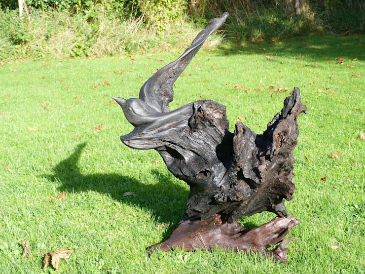 Flight de Irish Bog Wood Sculpture Rústico