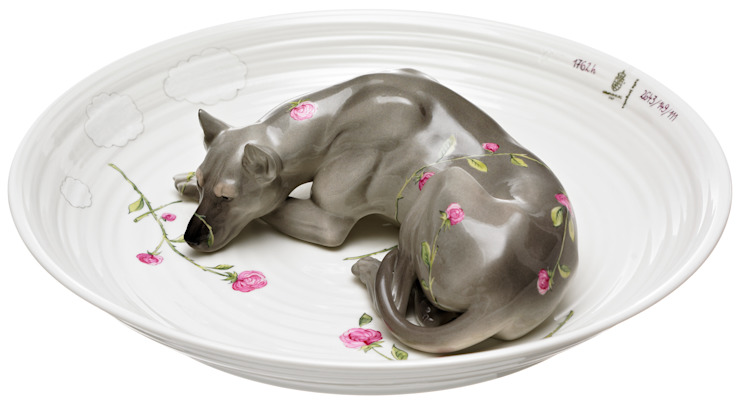 Bowl with dog by Vessel Gallery