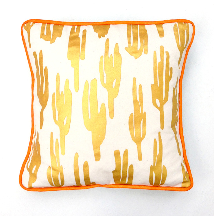 Zoe Murphy- Mexico to Margate- Cactus cushion gold: eclectic  by Zoe Murphy, Eclectic