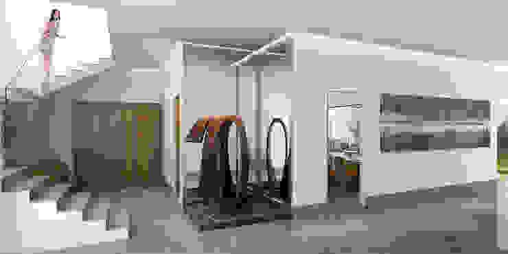 Detalle interior de Acceso Familiar de Eugenio Adame Arquitectos