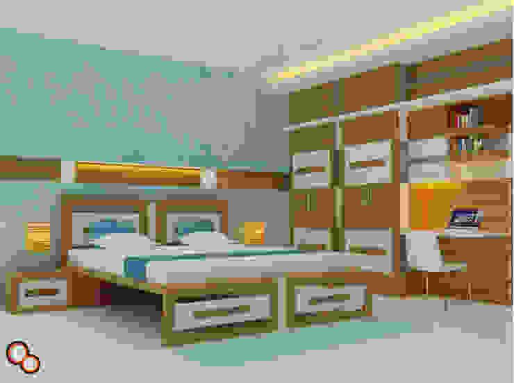 Bedroom Interiors -- Karthik residence Modern style bedroom by Preetham Interior Designer Modern