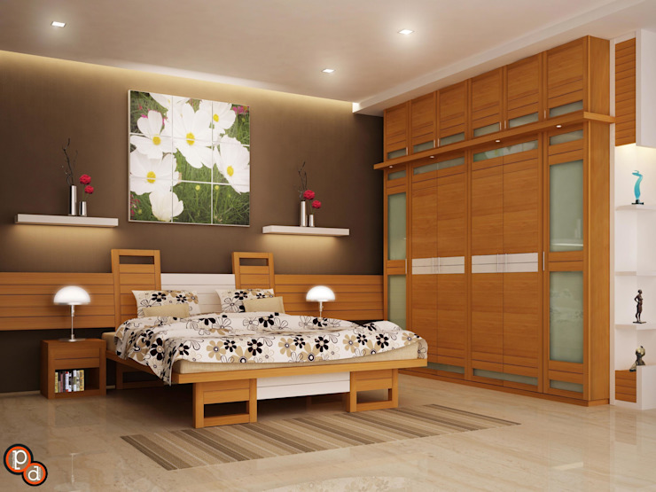 Bedroom Interiors -Khanna residence Modern style bedroom by Preetham Interior Designer Modern