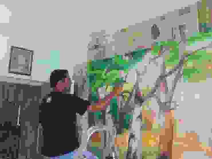 DRAWING ROOM WALL PAINTING: modern  by WALL PAINTING MUMBAI,Modern