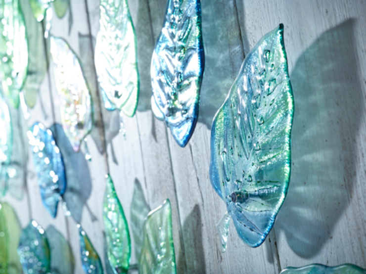 Swirling Leaves por Jo Downs Moderno