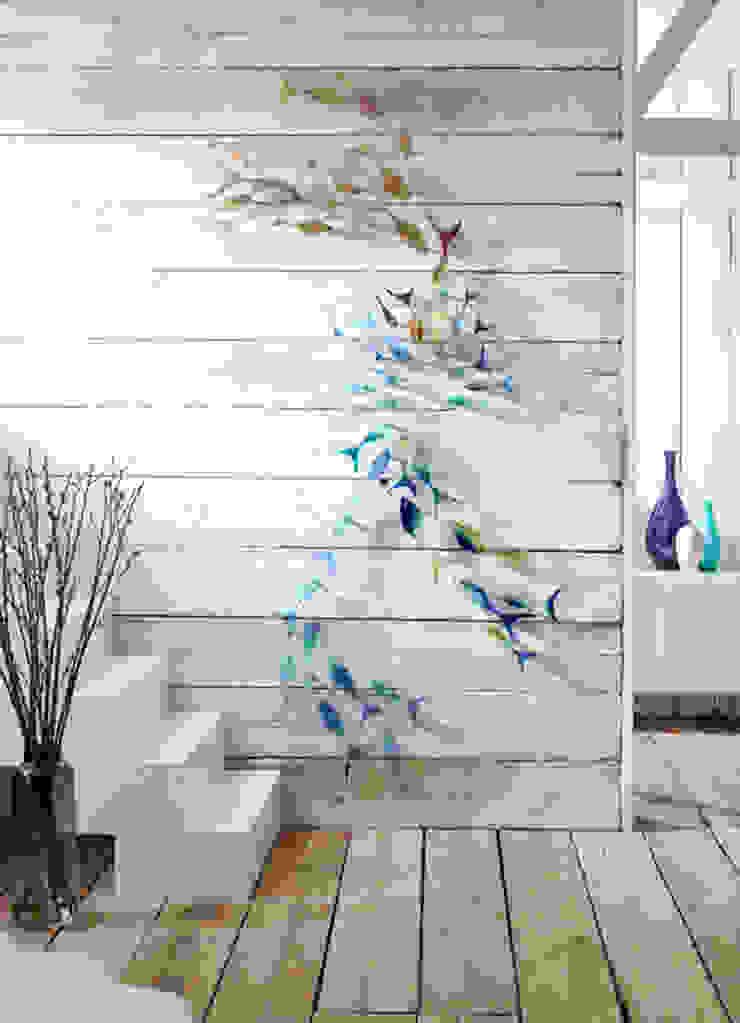 Shoaling Fish Modern walls & floors by Jo Downs Modern