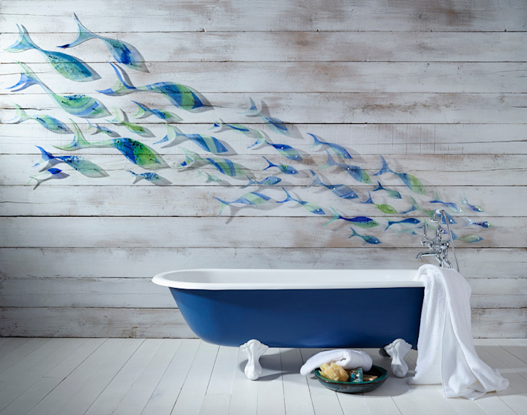 Shoaling Fish Modern bathroom by Jo Downs Modern